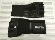Перчатки тяжелоатлетические с широким напульсником.