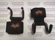 Крюки-зацепы страховочные для тяги с напульсником-стропой.